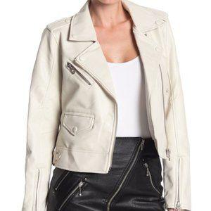 BLANK NYC Denim Faux Leather Moto Jacket NWT XL